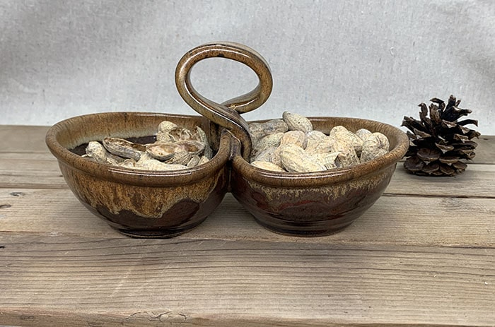 Windy Hill Pottery - double dips with peanuts