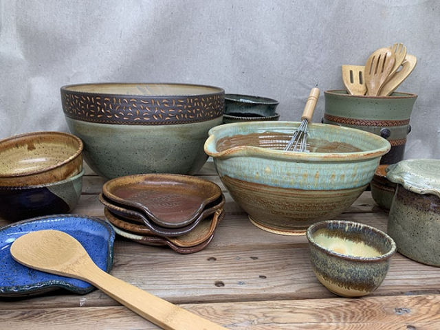 Windy Hill Pottery - kitchen display