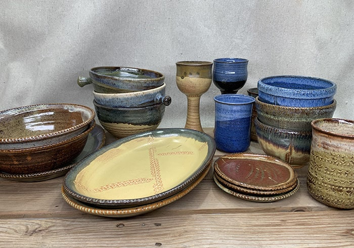 Windy Hill Pottery - setting display