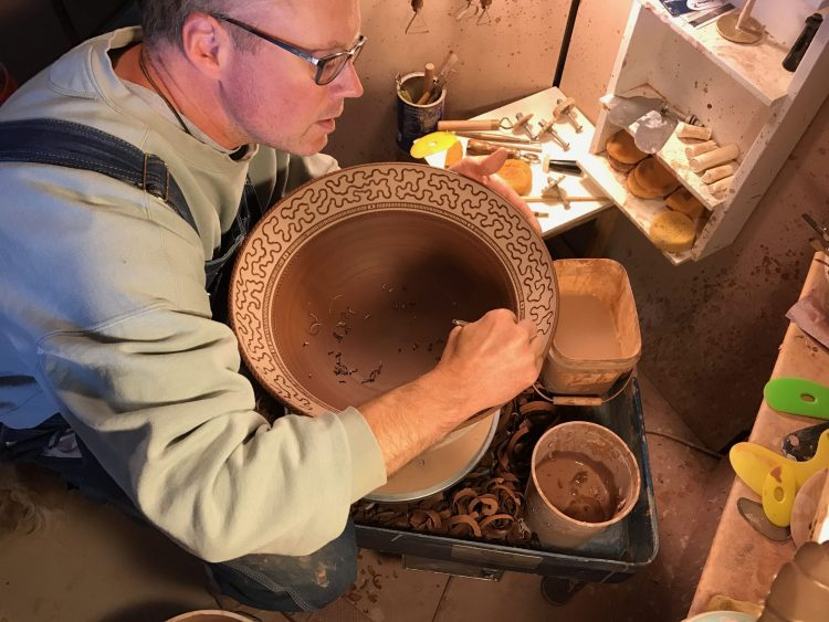 Windy Hill Pottery - Sgraffito Carving