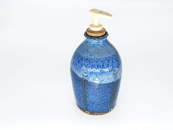 Blue Soap Dispenser