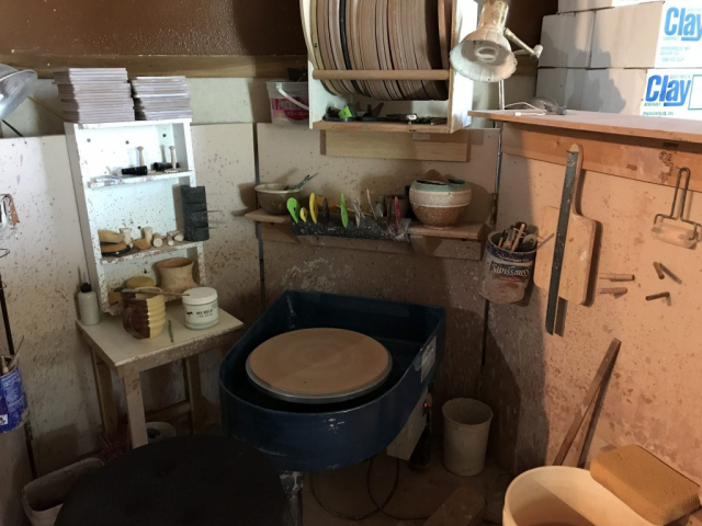 Windy Hill Pottery - Work Area