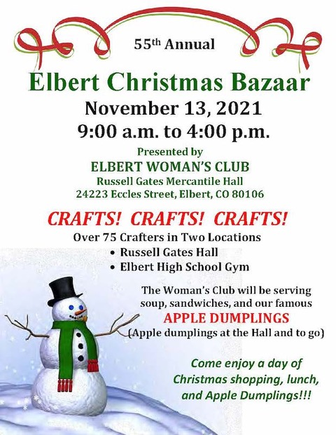 55th Annual Elbert Christmas Bazaar